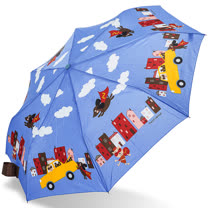 【rainstory】Super Dog(藍)抗UV隨身自動傘