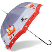 【rainstory】貓咪家族抗UV自動開直骨傘