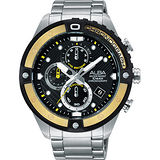ALBA ACTIVE 活力運動時尚計時腕錶-黑/46mm VD57-X071Y(AM3324X1)