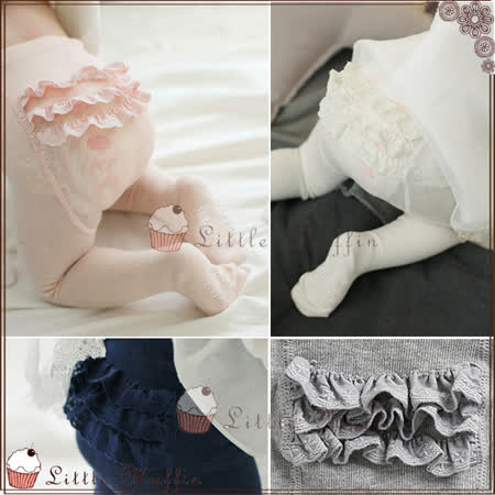 韓 甜美層層蛋糕褲寶寶保暖連身褲襪 內搭必備
