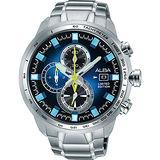 ALBA ACTIVE 活力運動限量款計時腕錶-藍/48mm VK67-X010B(AV6063X1)