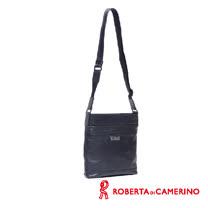 Roberta di Camerino 全皮直式側背包 - 黑色