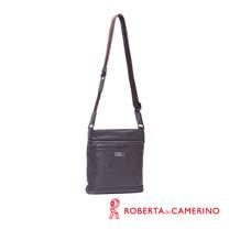 Roberta di Camerino 全皮直式側背包 - 咖啡色