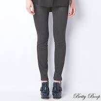 【Betty Boop貝蒂】素色彈性口袋直筒長褲(共二色)