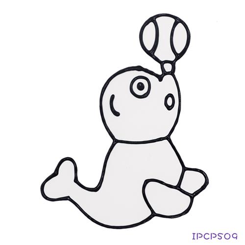 【愛玩色 館】兒童無毒彩繪玻璃貼- 小張圖卡 - 海獅 ipcpS09 - 製