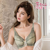 【玉如阿姨】愛在京都內衣。大尺寸-機能-調整型-包副乳-撫平-台灣製-C.D.E.F.G罩。※0375抹茶綠