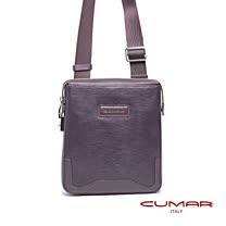 CUMAR 經典全皮直立式側背/隨身包-號碼鎖設計 0296-D64-02