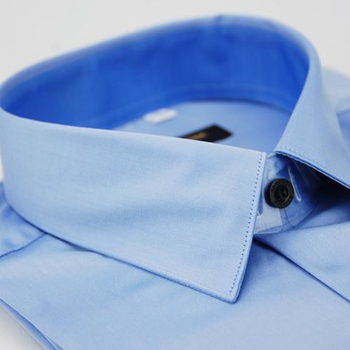 ~金安德森~藍色窄版長袖襯衫 品特