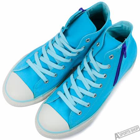 converse 女 Chuck Taylor All Star Size Zip 高筒 帆布鞋 藍 -647698C