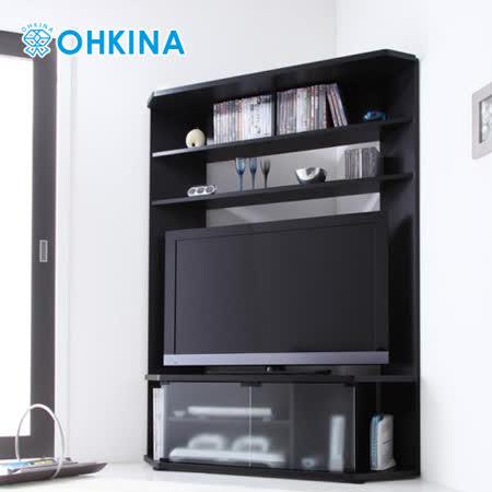 【OHKINA】日系薄型時尚角落收納電視櫃(二色)