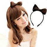 【PS Mall】vivi雜誌 造型配件 蝴蝶結髮箍假髮 (P023)