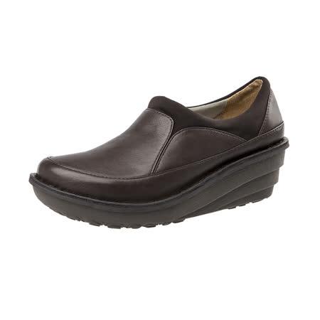 【Kimo德國手工氣墊鞋】寬底簡約舒適厚底懶人休閒鞋(城市咖K16WF011638)