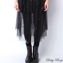 【Betty Boop貝蒂】珍珠網紗彈性內搭褲裙(共二色)