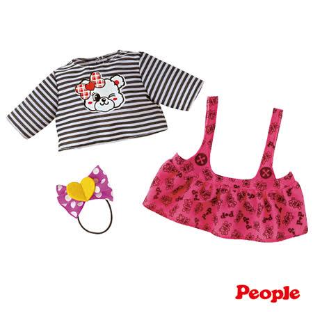 【日本POPO-CHAN】小熊吊帶裙組合 AI721