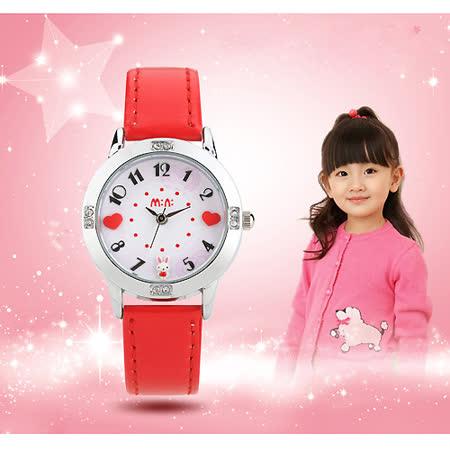 【Chimon Ritz】韩国MINI 手工软陶创意手表-甜蜜兔-红