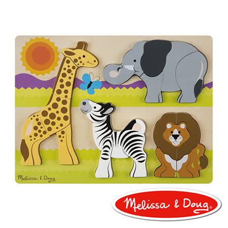 美國瑪莉莎 Melissa & Doug 厚塊拼圖 - 非洲動物園