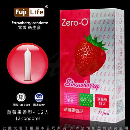 富仕康 Zero-O 草莓果香型保险套 12入