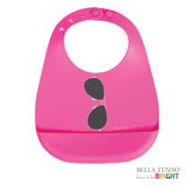 美國 Belle Tunno 寶寶矽膠圍兜兜 (太陽眼鏡-粉)
