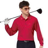 【SPAR】吸濕排汗男版長袖POLO衫(SP89813)深桃紅色