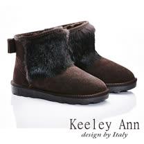 Keeley Ann  暖心冬季~獨特牛絨毛溫暖舒適個性雪靴(咖啡色587158270)
