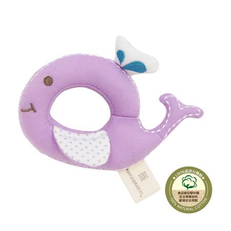【MARCUS&MARCUS】動物樂園有機棉手搖鈴安撫玩偶-鯨魚
