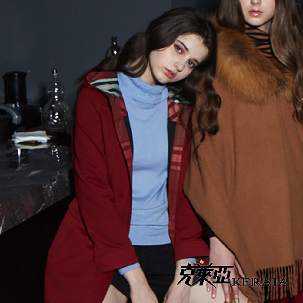 【克萊亞KERAIA】高領粉彩純羊毛上衣