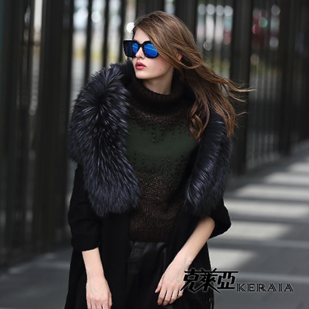 【克萊亞KERAIA】立體針織羊毛上衣-附脖套