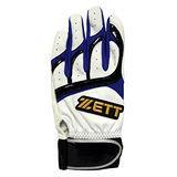 ZETT 打擊手套 BBGT-395 白藍 (隻)