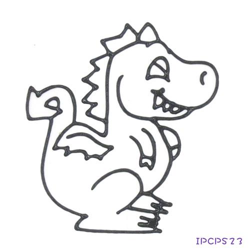 【愛玩色 館】兒童無毒彩繪玻璃貼- 小張圖卡 - 恐龍 IPCPS23 - 製