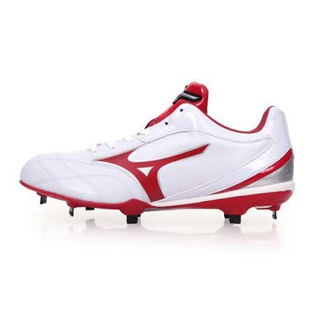 (男) MIZUNO NEXTCROSS CQ 棒壘球鞋-棒球 壘球 美津濃 白紅