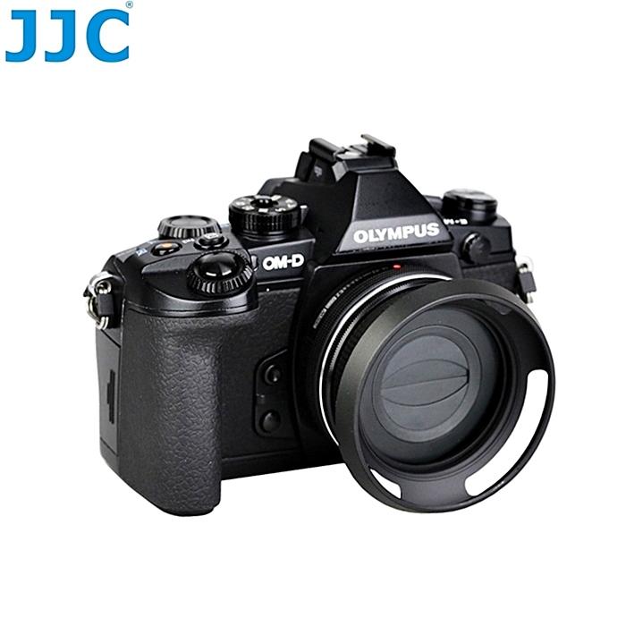 JJC副廠Panasonic二合一自動鏡頭蓋兼遮光罩適12~32mm f 3.5~5.6