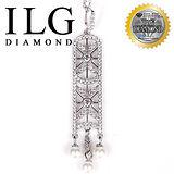 【ILG鑽】頂級八心八箭擬真鑽石項鍊-珍愛馬德里款 NC107 璀璨奢華款