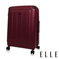 ELLE Harp系列 經典霧面輕量防刮行李箱/旅行箱28吋-勃根地紅EL3118528-01