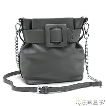 【法國盒子】韓系風尚鍊飾造型二用包(灰色)615