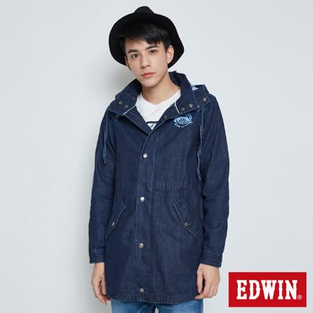 EDWIN EDO KATSU 江戶勝牛仔風衣外套-中性-酵洗藍