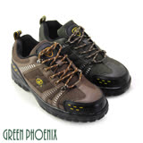 【GREEN PHOENIX】台灣製個性雙色綁帶安全鋼頭工作鞋(男款)