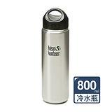 美國Klean Kanteen寬口不鏽鋼冷水瓶800ml-原鋼色