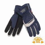 SNOWTRAVEL SKI-DRI防水透氣PRIMALOFT保暖手套(深藍)