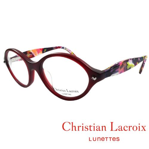 Christian Lacroix 浪漫極簡風格眼鏡 復古紅 CL1011~221