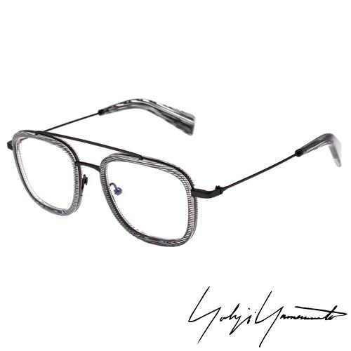 Yohji Yamamoto 山本耀司 方型時尚前衛光學眼鏡-透明灰-YY1026-950