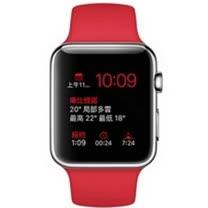 Apple WATCH 42mm/42公釐 S 不鏽鋼錶殼 紅色運動型錶帶 _ 台灣公司貨 (MLLE2TA/A)