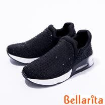 bellarita.水鑽彈力運動鞋(黑色)
