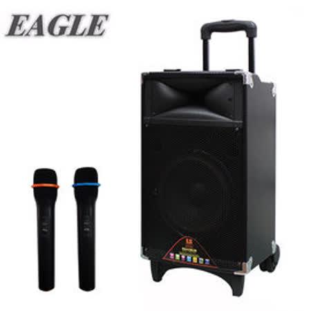 EAGLE 行动蓝芽拉杆式扩音音箱(ELS-3008)-无线麦克风版 / 送原厂UHF频道无线麦克风*2支+16G随身碟