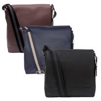 【COACH】新款全皮革磁扣上掀式書包/斜背包(3色)