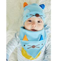 保護寶寶頭部溫暖不受風吹