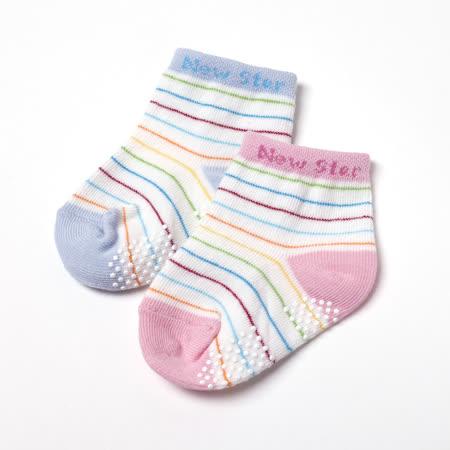 【聖哥Newstar】MIT寶寶棉襪-防滑襪底-11cm-0~2可穿-藍-粉-柔軟舒適-親膚好品質