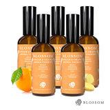 【BLOSSOM】暖薑甜橙植萃曲線緊緻舒緩美體按摩油(100ML/瓶)X5件組
