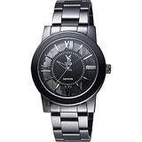 VOGUE 曼波系列鏤空藝術腕錶-黑/38mm 9V1601-141D-DS