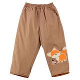 【愛的世界】 MYBEAR 小狐狸鬆緊帶防風舖棉長褲/6~8歲-台灣製-