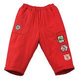 【愛的世界】 MYBEAR 動物圖標防風舖棉鬆緊帶長褲/3~4歲-中國製-
